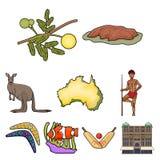National symbols of australia. Web icon on Australia theme. Australia icon in set collection on cartoon style vector Stock Images