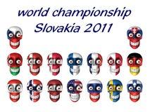 National symbols of ice hockey fans - world champi Stock Photos