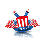 National Symbols of USA in American Colors Stock Photos
