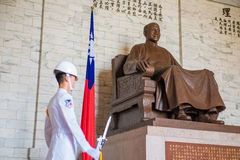 National Taiwan Democracy Memorial Hall. Chiang Kai-shek in Taipei royalty free stock image