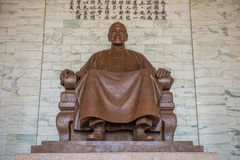 National Taiwan Democracy Memorial Hall. Chiang Kai-shek in Taipei royalty free stock photography