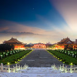 National Taiwan Democracy Square. View to Beautiful sunset over the National Taiwan Democracy Square from Chiang Kai-Shek Memorial Hall stock images