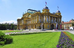 National teather in Zagreb Stock Photography