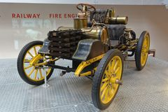 National Technical Museum Prague - NW 12 HP Rennzweier. NW 12 HP Rennzweier historical open car made in 1900 stock images