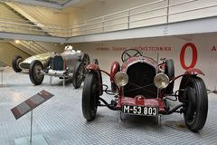 National Technical Museum Prague - Wikov 7/28 Sport,. Wikov 7/28 Sport - Czechoslovakian two seat roadster made in 1931 royalty free stock photos