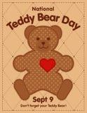 Teddy Bear Day, September 9 National Holiday stock image