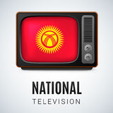 National Television Kyrgyzstan Stock Image