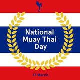 National Thai fight Day. Seventeenth of March. Vector illustration Stock Photos
