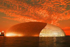 The National Theater in Beijing stock image