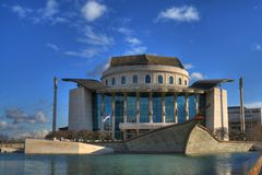 National Theater in Budapest Stock Images