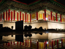 National theater concert hall. Reflect National theater concert hall at night Royalty Free Stock Photos