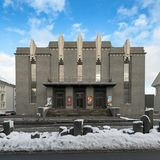 National Theater of Iceland in Reykjavik Stock Photography