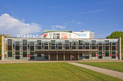 National Theater of Kassel. Kassel, Germany, October 9, 2011: Futuristic facade of the National theater of Kassel (Hesse, Germany) next to the documenta hall Stock Photo