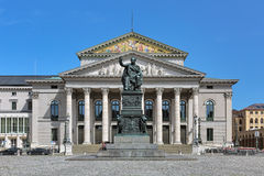 National Theater and Max I Joseph Monument in Munich, Germany Royalty Free Stock Photography