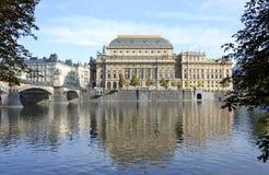 National theater from Prague Stock Photos