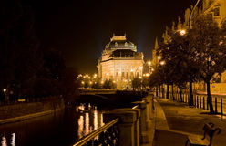 National theater of Prague Night Royalty Free Stock Photography