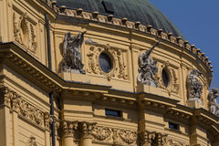 National Theater, Szeged, Hungary. Roof detail of National Theater in Neo Baroque style in Szeged, Hungary Stock Image