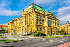 National theater in Zagreb, Croatia. Royalty Free Stock Photo