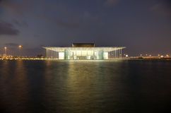 National Theatre of Bahrain at night Stock Photography