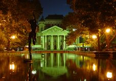 National Theatre of Bulgaria. Sofia, in the night Stock Photo