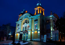 National Theatre of Cluj-Napoca, Romania. The National Theatre of Cluj-Napoca, Romania (inaugurated, 1906, built by Helmer & Fellner in baroque-rococo style). It stock photo