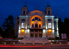National Theatre of Cluj-Napoca, Romania. The National Theatre of Cluj-Napoca, Romania (inaugurated, 1906, built by Helmer & Fellner in baroque-rococo style). It stock image