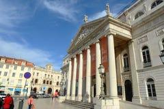 National Theatre Dona Maria II, Lisbon, Portugal Stock Image