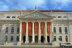 National Theatre Dona Maria II, Lisbon, Portugal Stock Image