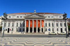 National Theatre Dona Maria II, Lisbon, Portugal Stock Photography