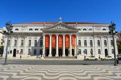 National Theatre Dona Maria II, Lisbon, Portugal Stock Photography