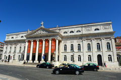 National Theatre Dona Maria II, Lisbon, Portugal Royalty Free Stock Images