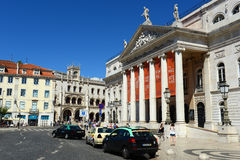National Theatre Dona Maria II, Lisbon, Portugal Stock Photo
