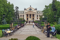 National Theatre from Iasi Stock Photography