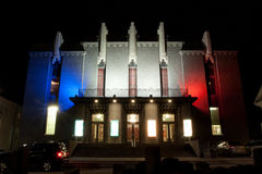 The National Theatre of Iceland in the French colors Royalty Free Stock Image