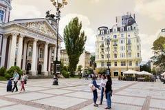 National theatre Ivan Vazov, Sofia, Bulgaria Royalty Free Stock Photography