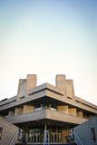 The National Theatre, London. The façade of the National Theatre, part of London's South Bank centre, a classic example of Brutalist architecture stock image