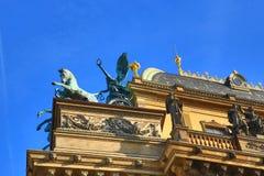 The National Theatre, Old Buildings, Street: Smetanovo nábřeží, New Town, Prague, Czech Republic Stock Images