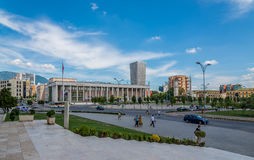 National Theatre of Opera and Ballet of Albania in Tirana. Stock Photo