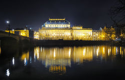 National Theatre in Prague. Neo-renaissance building of Narodni Divadlo built 1844-1881 Royalty Free Stock Photography