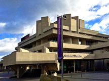 National Theatre, South Bank London. The Royal National Theatre (generally known as the National Theatre) in London is one of the United Kingdoms three most royalty free stock image