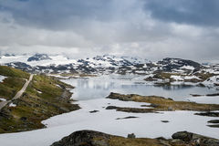 National Tourist Route, road 55, Norway. Stock Photo
