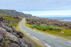 National Tourist Route to Hamningberg in Finnmark, Northern Norway Royalty Free Stock Photography