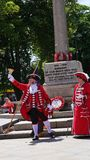 National Town Crier Competition held Exmouth Devon in South West England Summer 2018. Town Criers at The National Town Crier Competition held in Exmouth a stock photo
