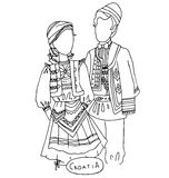 The national traditional ethnic costume  for men and woman of the country Royalty Free Stock Photos