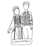 The national traditional ethnic costume  for men and woman of the country Royalty Free Stock Image