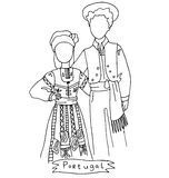 The national traditional ethnic costume  for men and woman of the country Royalty Free Stock Photo