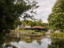 The national trust uk countryside at flatford mill constable cou Stock Images