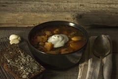 Borsch. National Ukrainian Dish - Ukrainian Borsch Royalty Free Stock Photography