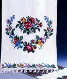 National ukrainian embroidery. Handmade stock photos