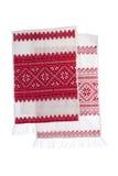 National Ukrainian symbol handmade towel and shirt Stock Images